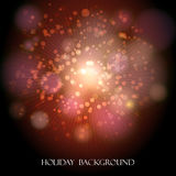 Festive Holiday Background. Abstract colorful holiday background with festive bubbles Royalty Free Stock Photography