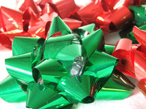 Festive Holiday Bows Royalty Free Stock Photography