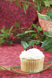 Festive Holiday Cupcake Stock Photos