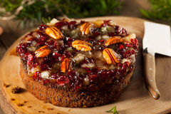 Festive Holiday Fruit Cake Royalty Free Stock Image