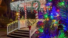Festive Holiday lights Stock Photos