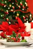 Festive Holiday Table With Hol Stock Photos