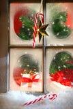 Festive holiday window royalty free stock image