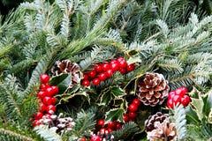 Festive Holiday Wreath Royalty Free Stock Photo