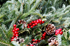 Festive holiday wreath Royalty Free Stock Photo