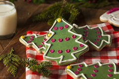 Festive Homemade Christmas Cookies Royalty Free Stock Photography