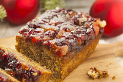 Festive Homemade Holiday Fruitcake Royalty Free Stock Image