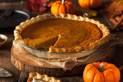 Festive Homemade Pumpkin Pie Royalty Free Stock Image