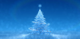 Festive Ice Tree Royalty Free Stock Photos