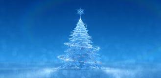 Festive Ice Tree Royalty Free Stock Photos