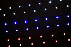 Festive illumination of colored lights Royalty Free Stock Photography