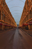 Festive illumination on one of the streets in the center of Moscow Royalty Free Stock Images