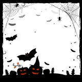 Festive illustration for Halloween. Black and white frame Royalty Free Stock Photography