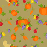 Festive illustration of a Thanksgiving Day greeting. For your family Stock Image