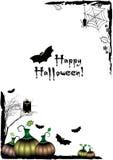 Festive illustration on theme of Halloween. Black corner frames Royalty Free Stock Image