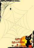 Festive illustration on theme of Halloween. Corner frames Stock Photo