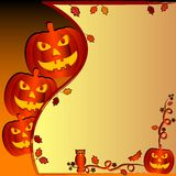 Festive illustration on theme of Halloween with field for text Stock Images