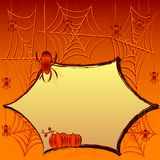Festive illustration on theme of Halloween with field for text Royalty Free Stock Image