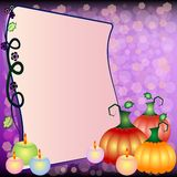 Festive illustration on theme of Halloween with field for text Royalty Free Stock Images
