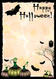 Festive illustration on theme of Halloween. Wishes for Happy Halloween. Trick or treat Royalty Free Stock Images