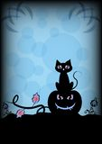 Festive illustration on theme of Halloween. Wishes for Happy Halloween. Trick or treat Stock Image