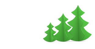 Festive image. Christmas tree on a white background Royalty Free Stock Photos