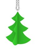 Festive image. Christmas tree on a white background Royalty Free Stock Images