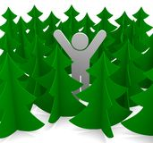Festive image. Christmas tree on a white background. Illustration. 3D Stock Image