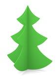 Festive image. Christmas tree on a white background. Illustration. 3D Stock Photos