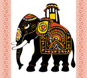 Festive indian elephant Royalty Free Stock Photos