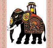 Festive indian elephant. Vector of Festive indian elephant Royalty Free Stock Photos