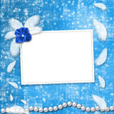 Festive invitation or congratulations. For a wedding, christening Royalty Free Stock Images