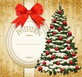Festive invitation to the Christmas Stock Photo