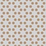 Festive kaleidoscope design. Raster seamless pattern gold and white Royalty Free Stock Photo