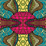 Festive kaleidoscope doodle design. Vector. Festive bright kaleidoscope doodle design. Vector illustration Royalty Free Stock Image
