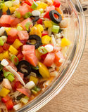 Festive layered salda dip Royalty Free Stock Image