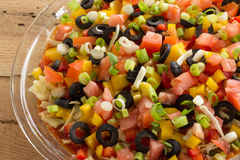 Festive layered salda dip Stock Image