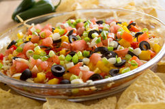 Festive layered salda dip Stock Photos