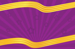 Festive leaflet. In purple and golden color tones Royalty Free Stock Image