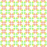 Festive leaves pattern Stock Image