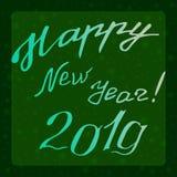 2019 happy new year - a congratulatory inscription. royalty free stock photography