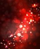Festive light background with bokeh and stars Stock Photo