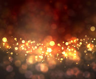 Festive light background with bokeh and stars. Vector Royalty Free Stock Photo