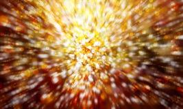 Festive gold bokeh blur Stock Photography