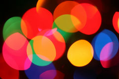 Festive lights. Blurred mini lights through frosted glass, not an effect Royalty Free Stock Photo