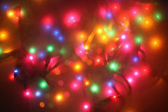 Festive lights. Through frosted glass, not an effect Royalty Free Stock Images