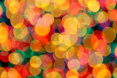 Festive lights. Blurred out of focus background of christmas lights Royalty Free Stock Images