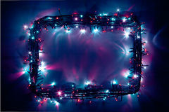 Festive lights frame Stock Images