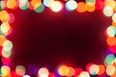 Festive lights frame Stock Image