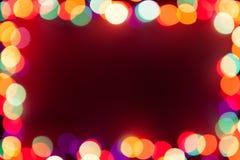 Festive lights frame Stock Image